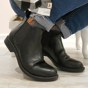 H&M DIVIDED Black Faux Leather Booties